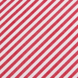 Red and White Chalk Stripe Cotton Fabric Pocket Square C005