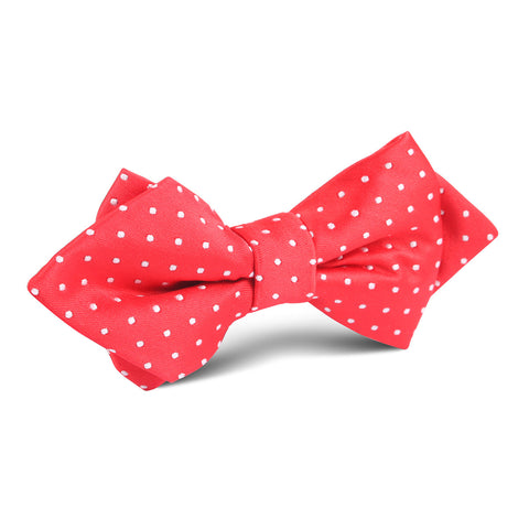 Red with White Polka Dot Diamond Bow Tie