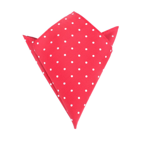 Red with White Polka Dots Pocket Square