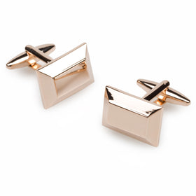 Reed Rose Gold Rectangle Cufflinks
