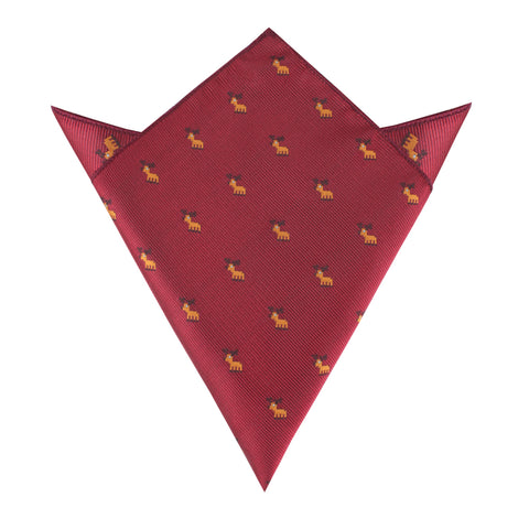 Reindeer Pixel Pocket Square