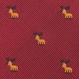 Reindeer Pixel Self Bow Tie Fabric