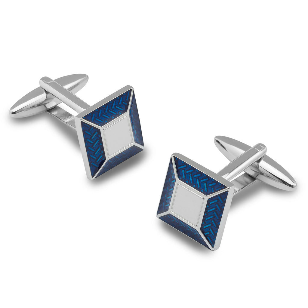 Richard III Blue and Silver Square Cufflinks