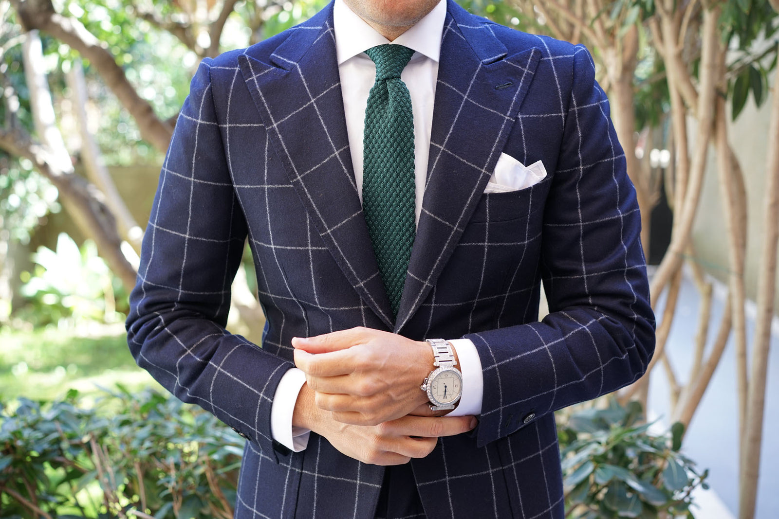 Rio Green Knitted Tie