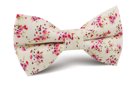 Río Pink Rose Floral Bow Tie