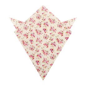 Río Pink Rose Floral Pocket Square