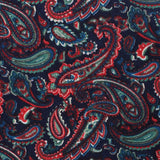 Rocambolesco Green Paisley Fabric Pocket Square