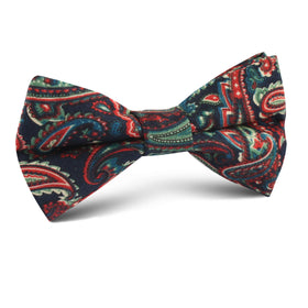 Rocambolesco Green Paisley Kids Bow Tie