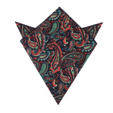Rocambolesco Green Paisley Pocket Square