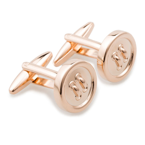 Rose Gold Button Cufflinks