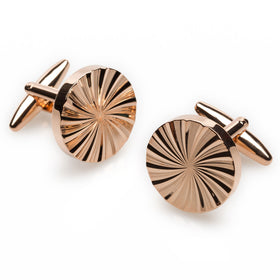 Rose Gold Circle Cufflinks
