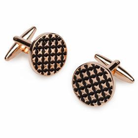 Rose Gold Four Point Star Cufflinks