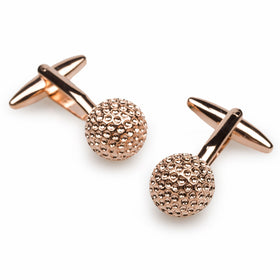 Rose Gold Golf Ball Cufflinks