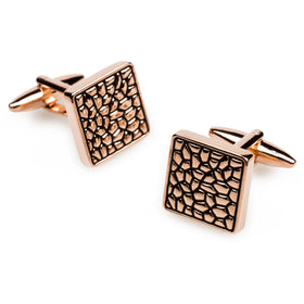 Rose Gold Pebble Cufflinks