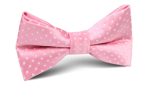 Rose Pink Mini Polka Dots Bow Tie