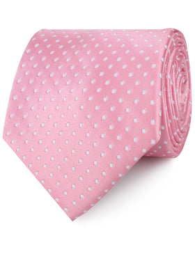 Rose Pink Mini Polka Dots Necktie