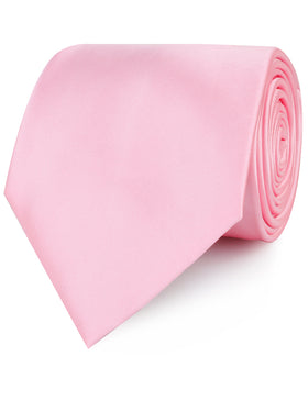 Rose Pink Satin Necktie