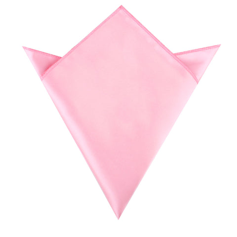 Rose Pink Satin Pocket Square