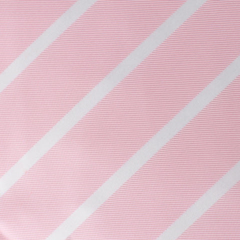 Rose Pink Striped Pocket Square