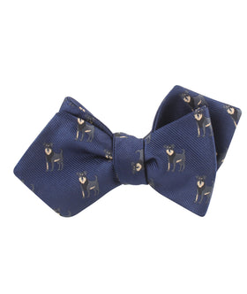 Rottweiler Dog Diamond Self Bow Tie