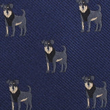 Rottweiler Dog Fabric Self Bowtie