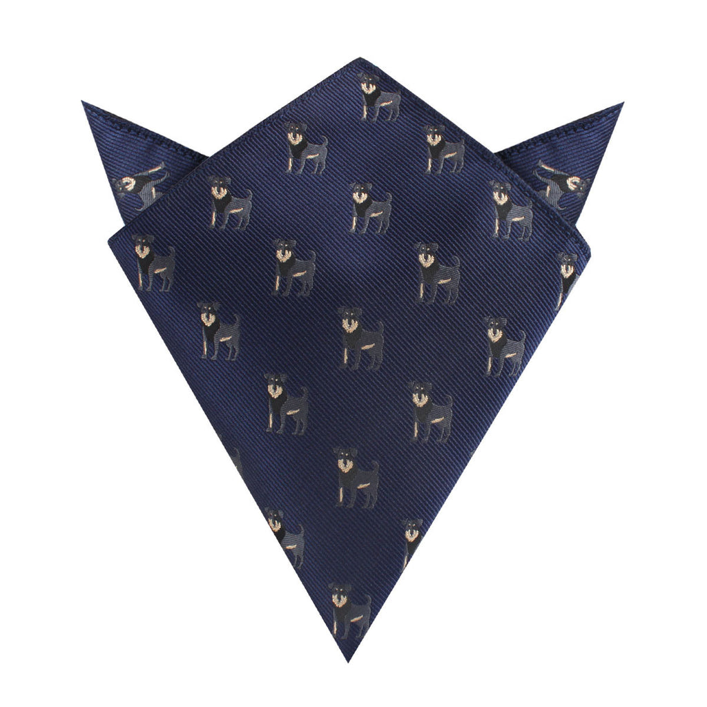 Rottweiler Dog Pocket Square