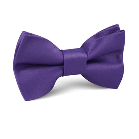 Royal Violet Purple Satin Kids Bow Tie