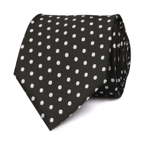 Royal Black Polka Dots Necktie