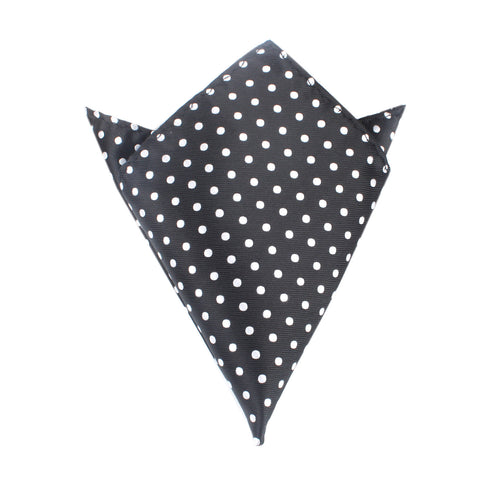 Royal Black Polka Dots Pocket Square