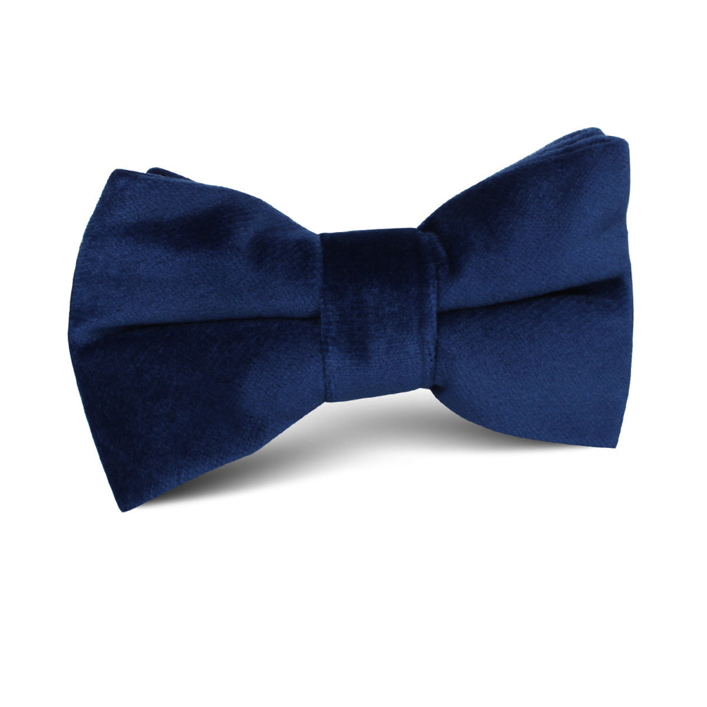 Royal Blue Velvet Kids Bow Tie