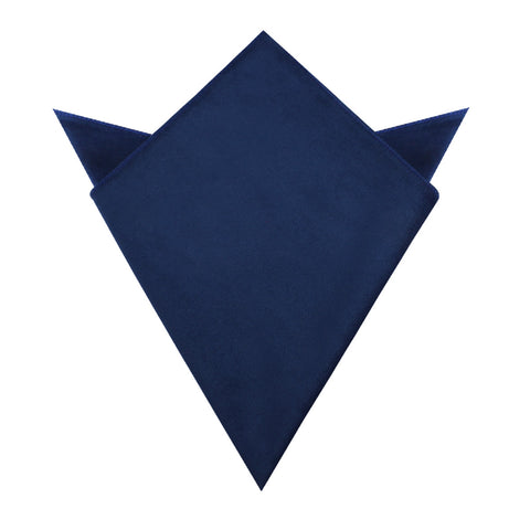 Royal Blue Velvet Pocket Square
