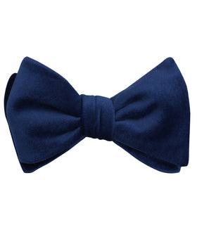 Royal Blue Velvet Self Bow Tie