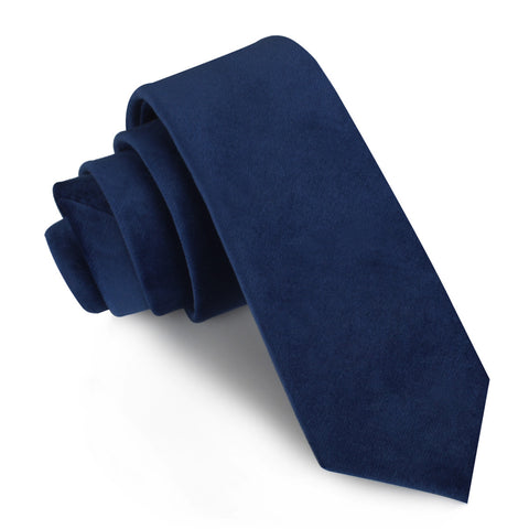 Royal Blue Velvet Skinny Tie