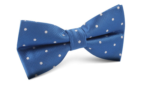 Royal Blue with White Polka Dots Bow Tie