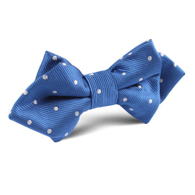 Royal Blue with White Polka Dots Diamond Bow Tie