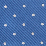 Royal Blue with White Polka Dots Fabric Self Tie Diamond Tip Bow Tie M125