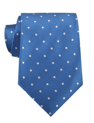 Royal Blue with White Polka Dots Necktie