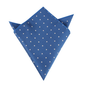 Royal Blue with White Polka Dots Pocket Square