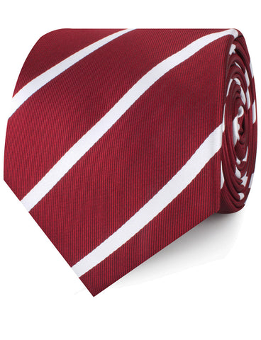 Royal Burgundy Striped Necktie