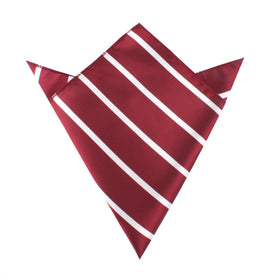 Royal Burgundy Striped Pocket Square