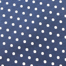 Royal Navy Blue Polka Dots Bow Tie