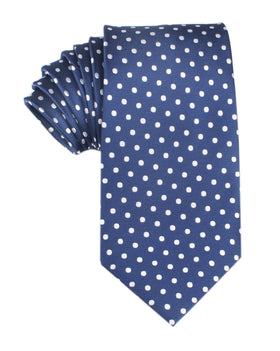 Royal Navy Blue Polka Dots Necktie