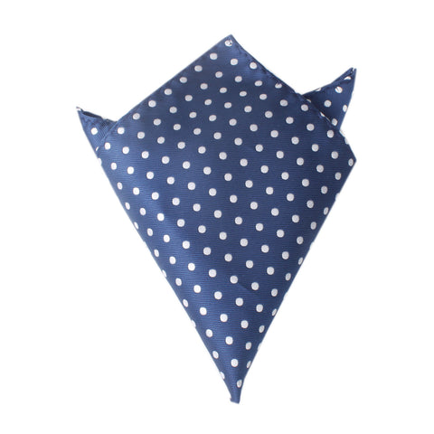 Royal Navy Blue Polka Dots Pocket Square