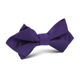 Royal Purple Diamond Bow Tie