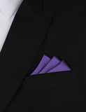 Royal Purple Oxygen Three Point Pocket Square Fold