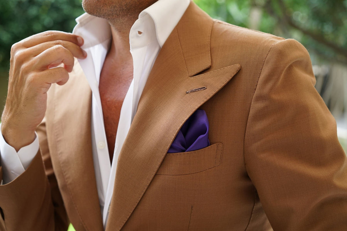 Royal Purple Pocket Square