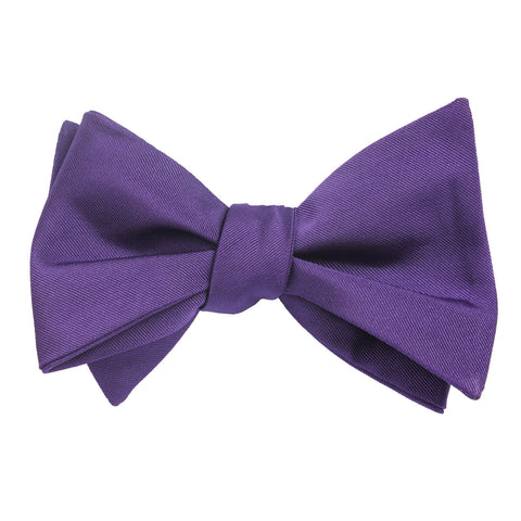 Royal Purple Self Tie Bow Tie