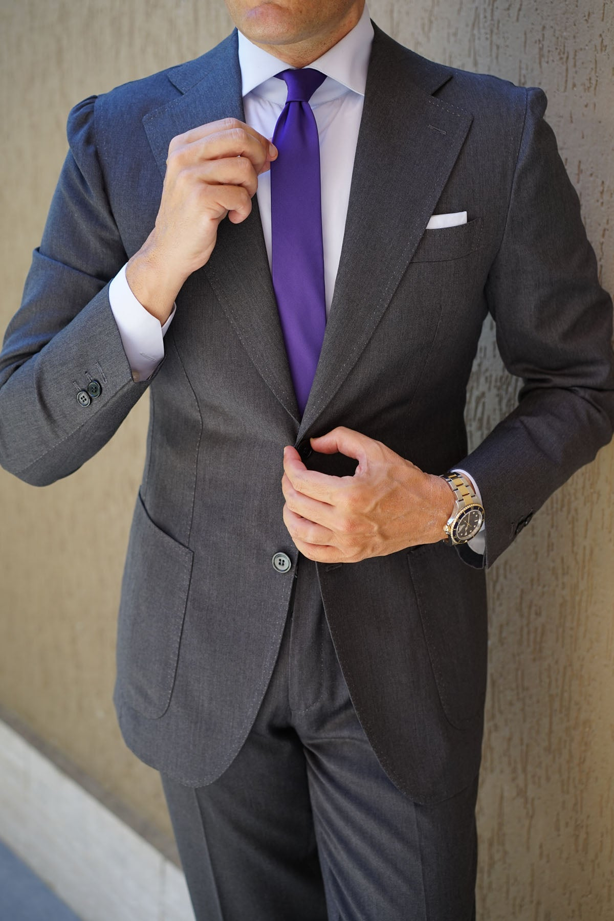 Royal Purple Skinny Tie
