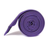 Royal Purple Skinny Tie Side Roll