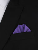 Royal Purple Winged Puff Pocket Square Fold